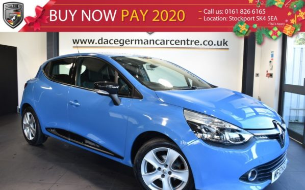 Used 2013 BLUE RENAULT CLIO Hatchback 1.1 DYNAMIQUE MEDIA NAV 5DR 75 BHP excellent service history (reg. 2013-04-30) for sale in Bolton