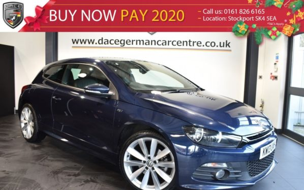 Used 2013 BLUE VOLKSWAGEN SCIROCCO Coupe 2.0 R LINE TDI 2DR 175 BHP full service history (reg. 2013-07-24) for sale in Bolton