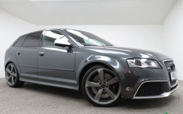 Used 2013 GREY AUDI RS3 Hatchback 2.5 RS3 QUATTRO 5d AUTO 340 BHP (reg. 2013-01-02) for sale in Manchester