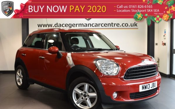 Used 2013 RED MINI COUNTRYMAN Hatchback 1.6 ONE 5DR 98 BHP full service history (reg. 2013-06-29) for sale in Bolton