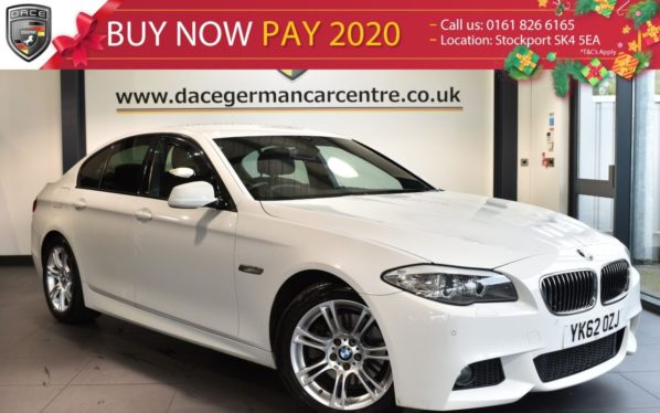 Used 2013 WHITE BMW 5 SERIES Saloon 2.0 520D M SPORT 4DR AUTO 181 BHP superb service history (reg. 2013-09-13) for sale in Bolton