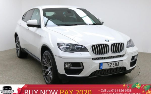 Used 2013 WHITE BMW X6 Coupe 3.0 XDRIVE40D 4d AUTO 302 BHP (reg. 2013-08-07) for sale in Manchester