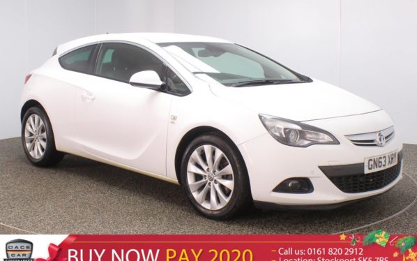 Used 2013 WHITE VAUXHALL ASTRA GTC Hatchback 1.4 GTC SRI 3DR AUTO HALF LEATHER SEATS 138 BHP (reg. 2013-11-18) for sale in Stockport