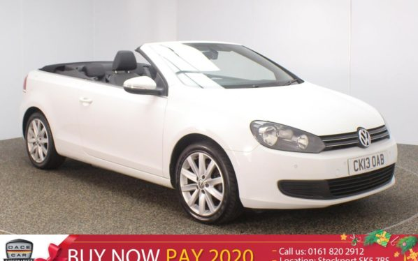 Used 2013 WHITE VOLKSWAGEN GOLF Convertible 1.6 SE TDI BLUEMOTION TECHNOLOGY 2DR 104 BHP (reg. 2013-05-30) for sale in Stockport
