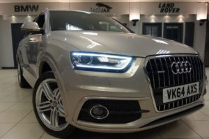 Used 2014 BEIGE AUDI Q3 Estate 2.0 TDI QUATTRO S LINE PLUS 5d AUTO 140 BHP (reg. 2014-09-13) for sale in Hazel Grove