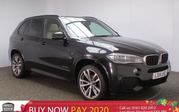 Used 2014 BLACK BMW X5 Estate 3.0 XDRIVE30D M SPORT PAN ROOF 7 SEATS HEADS UP DISPLAY SAT NAV HEATED LEATHER SEATS REAR CAMERA (reg. 2014-04-10) for sale in Stockport