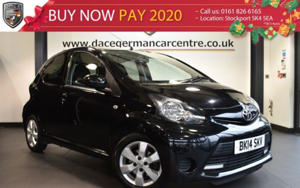 Used 2014 BLACK TOYOTA AYGO Hatchback 1.0 VVT-I MOVE WITH STYLE 5DR 68 BHP superb service history (reg. 2014-03-31) for sale in Bolton