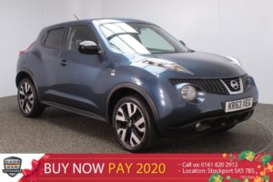 Used 2014 BLUE NISSAN JUKE Hatchback 1.6 N-TEC 5DR SAT NAV REAR CAM 115 BHP (reg. 2014-01-06) for sale in Stockport