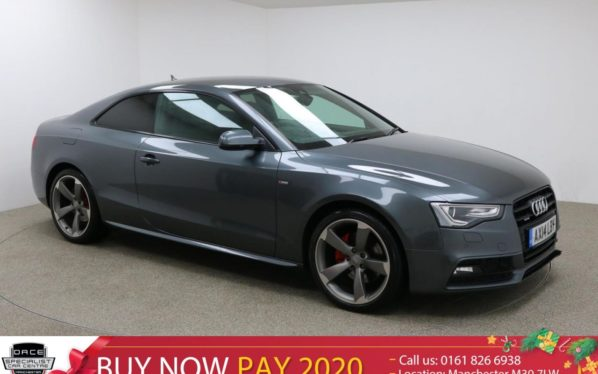 Used 2014 GREY AUDI A5 Coupe 3.0 TDI QUATTRO BLACK EDITION 2d AUTO 245 BHP (reg. 2014-04-15) for sale in Manchester