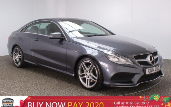 Used 2014 GREY MERCEDES-BENZ E CLASS Coupe 2.1 E250 CDI AMG SPORT 2DR AUTO 204 BHP (reg. 2014-03-06) for sale in Stockport