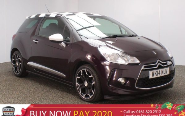 Used 2014 PURPLE CITROEN DS3 Hatchback 1.6 E-HDI AIRDREAM DSPORT 3DR HALF LEATHER 111 BHP (reg. 2014-03-10) for sale in Stockport
