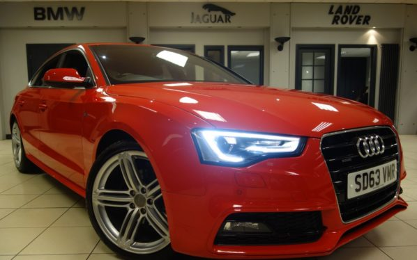 Used 2014 RED AUDI A5 Hatchback 2.0 SPORTBACK TDI QUATTRO S LINE S/S 5d AUTO 174 BHP (reg. 2014-10-16) for sale in Hazel Grove