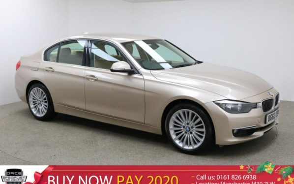 Used 2014 SILVER BMW 3 SERIES Saloon 2.0 320I LUXURY 4d 181 BHP (reg. 2014-09-06) for sale in Manchester
