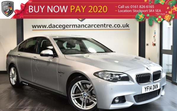 Used 2014 SILVER BMW 5 SERIES Saloon 2.0 520D M SPORT 4d 181 BHP full service history (reg. 2014-07-08) for sale in Bolton