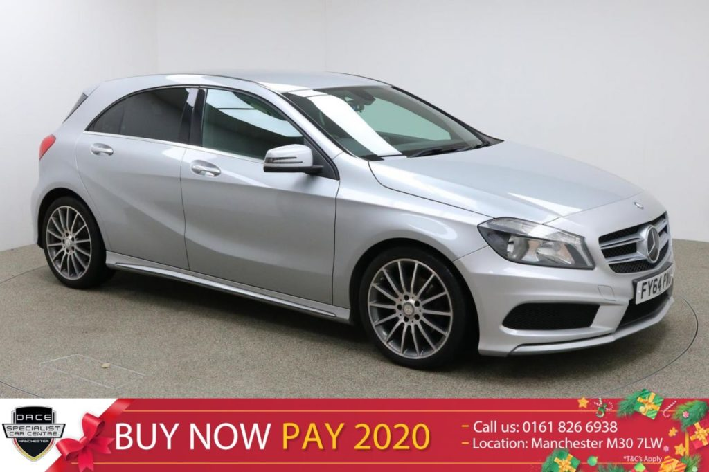 Used 2014 SILVER MERCEDES-BENZ A CLASS Hatchback 2.1 A200 CDI AMG SPORT 5d 136 BHP (reg. 2014-11-03) for sale in Manchester