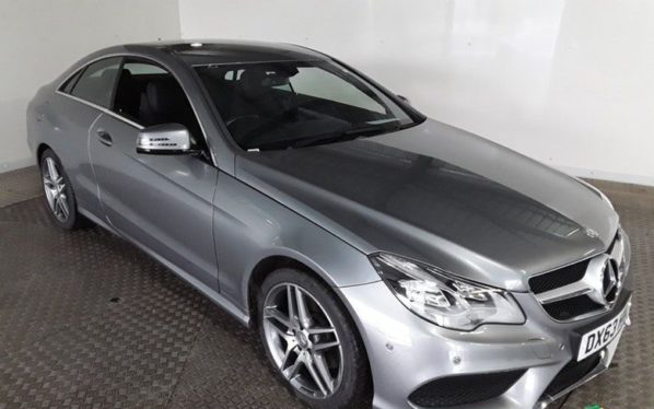 Used 2014 SILVER MERCEDES-BENZ E CLASS Coupe 2.0 E200 AMG SPORT 2DR AUTO LEATHER SAT NAV FSH NEW SHAPE (reg. 2014-10-31) for sale in Stockport