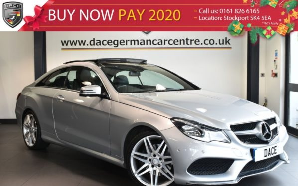 Used 2014 SILVER MERCEDES-BENZ E CLASS Coupe 3.0 E350 BLUETEC AMG SPORT 2DR AUTO 252 BHP full service history (reg. 2014-03-14) for sale in Bolton