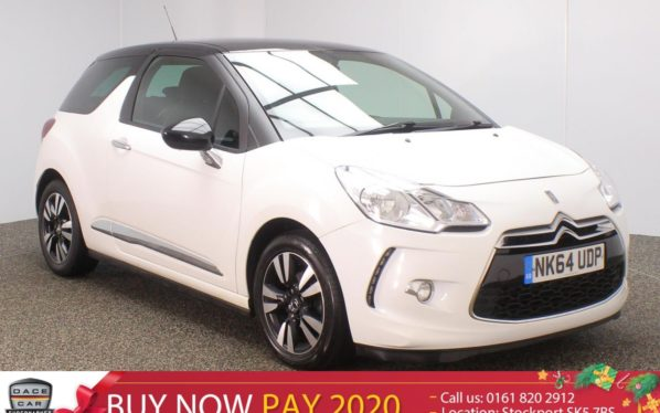 Used 2014 WHITE CITROEN DS3 Hatchback 1.6 E-HDI DSTYLE 3DR 90 BHP (reg. 2014-09-03) for sale in Stockport