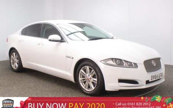 Used 2014 WHITE JAGUAR XF Saloon 3.0 D V6 LUXURY 4DR AUTO 240 BHP (reg. 2014-11-28) for sale in Stockport