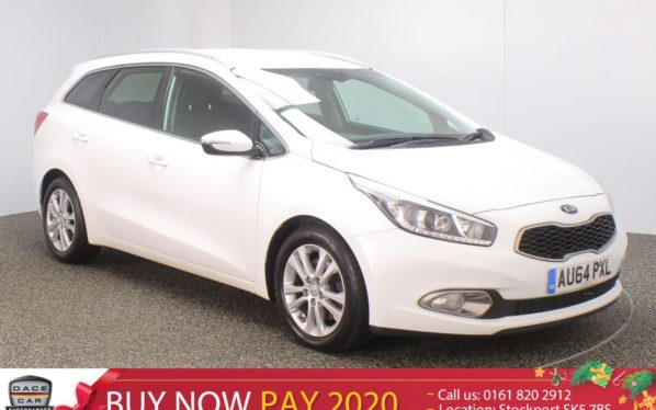 Used 2014 WHITE KIA CEED Estate 1.6 CRDI 3 ECODYNAMICS 5DR SAT NAV REAR CAM 126 BHP (reg. 2014-09-29) for sale in Stockport