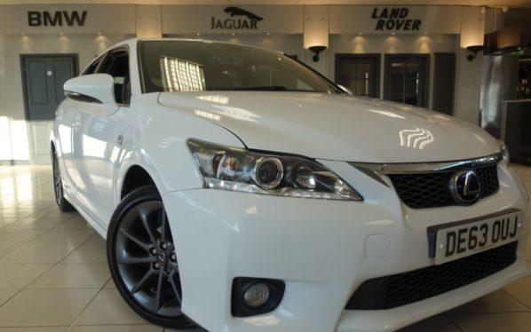 Used 2014 WHITE LEXUS CT Hatchback 1.8 200H F SPORT 5d AUTO 136 BHP (reg. 2014-09-30) for sale in Hazel Grove