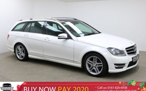 Used 2014 WHITE MERCEDES-BENZ C CLASS Estate 2.1 C220 CDI AMG SPORT EDITION PREMIUM PLUS 5d AUTO 168 BHP (reg. 2014-02-28) for sale in Manchester