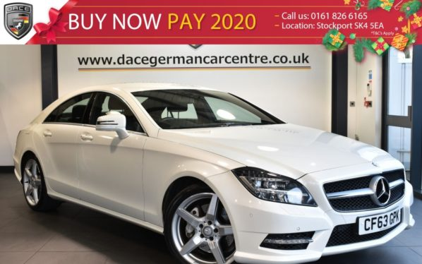 Used 2014 WHITE MERCEDES-BENZ CLS CLASS Coupe 3.0 CLS350 CDI BLUEEFFICIENCY AMG SPORT 4DR AUTO 265 BHP full service history (reg. 2014-01-29) for sale in Bolton