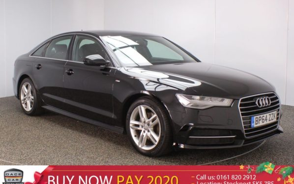 Used 2015 BLACK AUDI A6 Saloon 2.0 TDI ULTRA S LINE 4DR SAT NAV HEATED LEATHER SEATS 1 OWNER 188 BHP (reg. 2015-02-09) for sale in Stockport