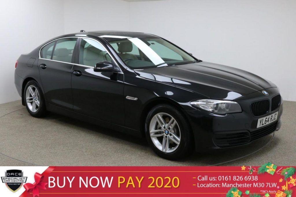 Used 2015 BLACK BMW 5 SERIES Saloon 2.0 520D SE 4d 188 BHP (reg. 2015-02-27) for sale in Manchester
