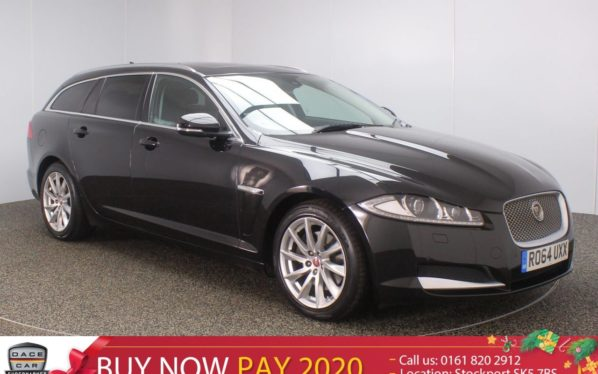 Used 2015 BLACK JAGUAR XF Estate 2.2 D PREMIUM LUXURY SPORTBRAKE 5DR 200 BHP FULL LEATHER SAT NAV POWER TAILGATE (reg. 2015-01-05) for sale in Stockport