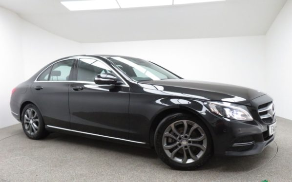 Used 2015 BLACK MERCEDES-BENZ C CLASS Saloon 2.1 C220 BLUETEC SPORT 4d 170 BHP (reg. 2015-04-27) for sale in Manchester