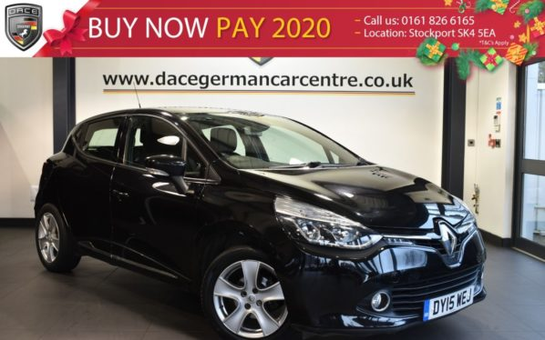 Used 2015 BLACK RENAULT CLIO Hatchback 0.9 DYNAMIQUE MEDIANAV ENERGY TCE S/S 5DR 90 BHP full service history (reg. 2015-03-31) for sale in Bolton