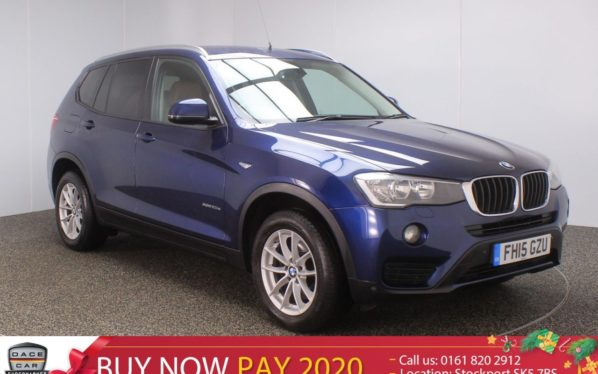 Used 2015 BLUE BMW X3 Estate 2.0 XDRIVE20D SE 5DR SAT NAV HEATED LEATHER 1 OWNER 188 BHP (reg. 2015-07-01) for sale in Stockport