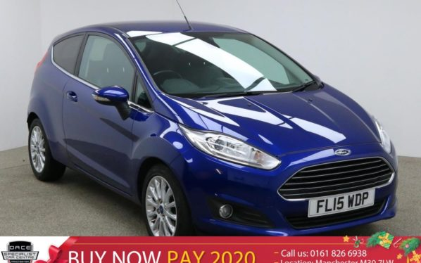 Used 2015 BLUE FORD FIESTA Hatchback 1.0 TITANIUM X 3d 124 BHP (reg. 2015-03-31) for sale in Manchester