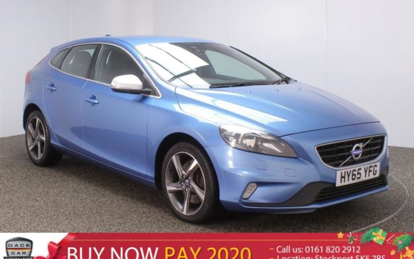 Used 2015 BLUE VOLVO V40 Hatchback 1.5 T2 R-DESIGN NAV 5DR 1OWNER 120 BHP (reg. 2015-10-30) for sale in Stockport