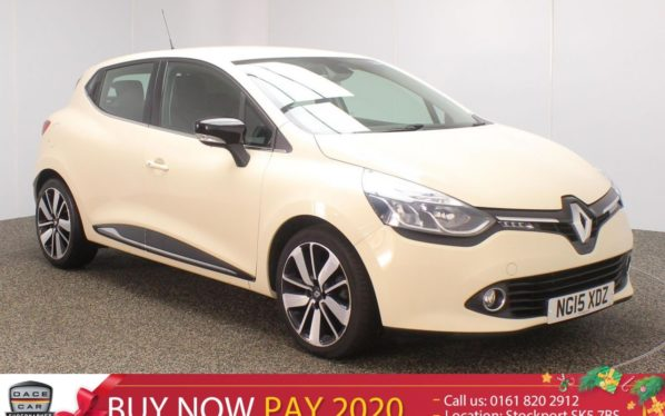 Used 2015 CREAM RENAULT CLIO Hatchback 1.5 DYNAMIQUE S NAV DCI 5DR 89 BHP (reg. 2015-08-31) for sale in Stockport