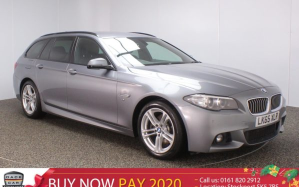 Used 2015 GREY BMW 5 SERIES Estate 2.0 520D M SPORT TOURING 5DR SAT NAV HEATED LEATHER 188 BHP (reg. 2015-10-23) for sale in Stockport