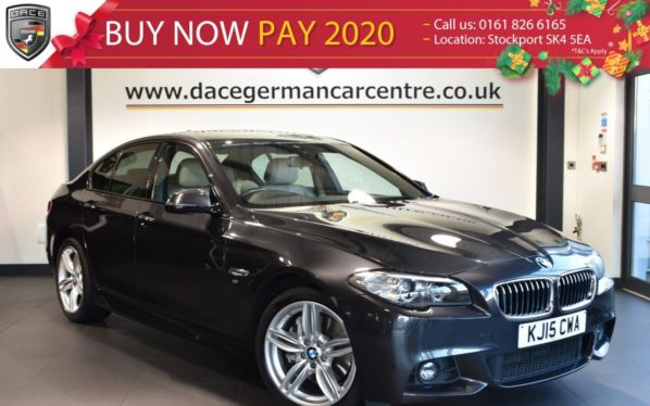 Used 2015 GREY BMW 5 SERIES Saloon 3.0 530D M SPORT 4DR AUTO 255 BHP full service history (reg. 2015-06-30) for sale in Bolton