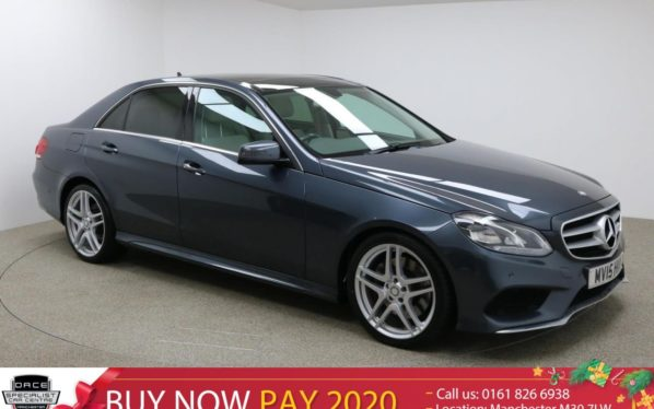 Used 2015 GREY MERCEDES-BENZ E CLASS Saloon 3.0 E350 BLUETEC AMG LINE PREMIUM 4DR AUTO 255 BHP (reg. 2015-03-20) for sale in Manchester
