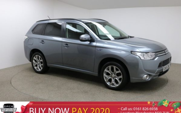 Used 2015 GREY MITSUBISHI OUTLANDER Estate 2.0 PHEV GX 3H 5d AUTO 162 BHP (reg. 2015-03-05) for sale in Manchester