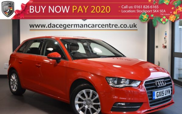 Used 2015 RED AUDI A3 Hatchback 2.0 TDI SE 5DR AUTO 148 BHP full service history (reg. 2015-03-02) for sale in Bolton
