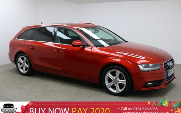Used 2015 RED AUDI A4 AVANT Estate 2.0 TDI ULTRA SE TECHNIK 5d 161 BHP (reg. 2015-03-02) for sale in Manchester