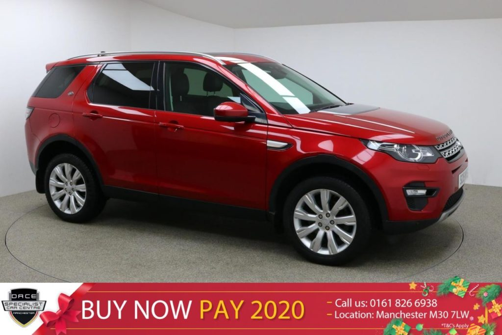 Used 2015 RED LAND ROVER DISCOVERY SPORT Estate 2.2 SD4 HSE 5d 190 BHP (reg. 2015-06-30) for sale in Manchester