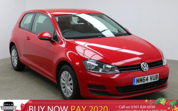 Used 2015 RED VOLKSWAGEN GOLF Hatchback 1.2 S TSI BLUEMOTION TECHNOLOGY 3d 84 BHP (reg. 2015-01-12) for sale in Manchester