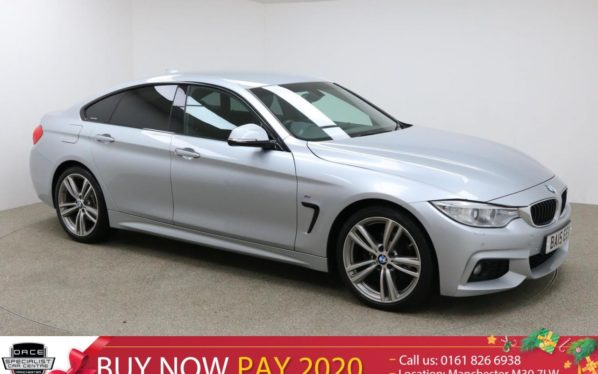 Used 2015 SILVER BMW 4 SERIES GRAN COUPE Coupe 2.0 420D M SPORT GRAN COUPE 4d AUTO 181 BHP (reg. 2015-08-27) for sale in Manchester