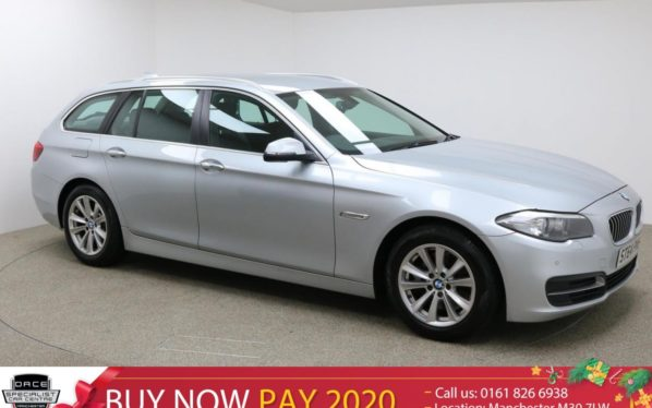 Used 2015 SILVER BMW 5 SERIES Estate 3.0 530D SE TOURING 5d AUTO 255 BHP (reg. 2015-12-19) for sale in Manchester