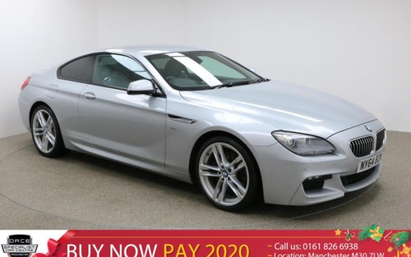 Used 2015 SILVER BMW 6 SERIES Coupe 3.0 640D M SPORT 2d AUTO 309 BHP (reg. 2015-02-18) for sale in Manchester