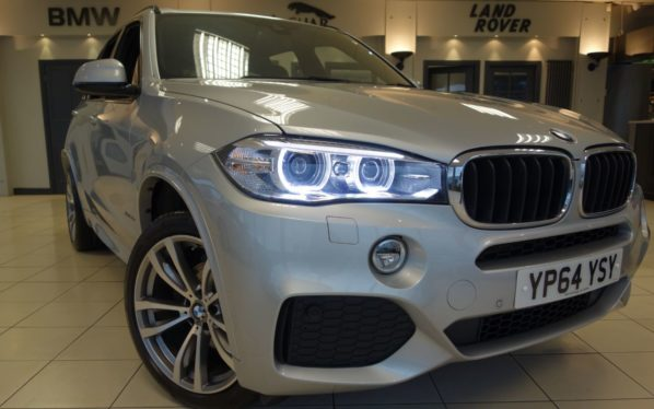 Used 2015 SILVER BMW X5 Estate 3.0 XDRIVE30D M SPORT 5d AUTO 255 BHP (reg. 2015-11-28) for sale in Hazel Grove