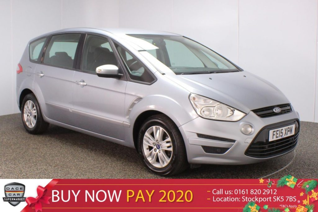 Used 2015 SILVER FORD S-MAX MPV 2.0 ZETEC TDCI 5DR AUTO 1 OWNER 7 SEATS (reg. 2015-04-27) for sale in Stockport