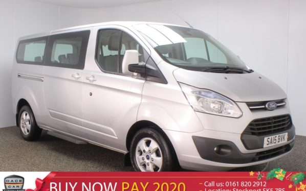 Used 2015 SILVER FORD TOURNEO CUSTOM MPV 2.2 300 LIMITED TDCI 5DR 124 BHP 9 SEATS MINIBUS (reg. 2015-05-29) for sale in Stockport